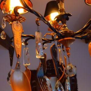 Lampe à pampilles façon lampiste